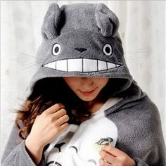 2016 New Cosplay Totoro Lovely Plush Soft Cloak Totoro Cape Cat Cartoon Cloak Coral Fleece Air Blankets Birthday Valentine Gifts-in Clothing from Novelty & Special Use on Aliexpress.com | Alibaba Group