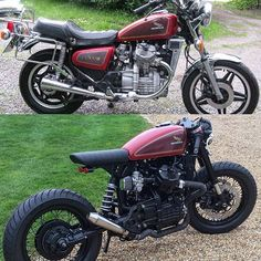 The CX500 before and after. #Honda #cx500 #cx650 #caferacer #caferacers #caferacerstyle #caferacerxxx #caferacerxxx #caferacerporn #caferacerculture #builtnotbought #dropmoto #bobber
