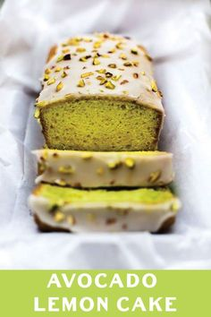 Simple just 5 ingredient Avocado Lemon Cake makes for a perfect summer treat! No Butter, No Oil yet super soft, this cake is great for guilt free snacking!