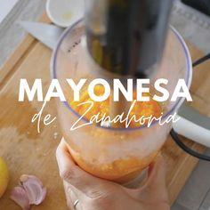 Como hacer mayonesa vegana, como hacer mayonesa de zanahoria, mayonesa casera, mayonesa saludable, dip de zanahoria, recetas de picadas, recetas para picar, receta saludable Healthy Low Carb Recipes, Veggie Recipes, Gluten Free Recipes, Vegan Snacks, Easy Snacks, Healthy Snacks, Vegan Milk, Salty Foods, Morning Food