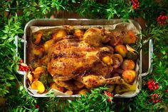 Chicken for Christmas Turkish Recipes, Ethnic Recipes, Tandoori Chicken, Feel Good, Main Dishes, Chicken Recipes, Good Food, Turkey, Meat