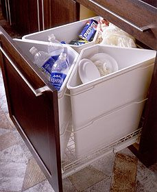 Home Recycling Center Office Cabinets, Kitchen Cabinetry, Wood Cabinets,  Kitchen Dining, Recycling