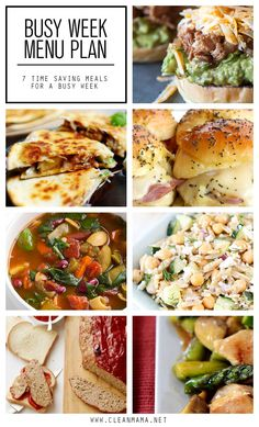 Save yourself some time, energy and money when you menu plan. These recipes are perfect for a busy week!