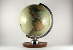 Vintage small German Earth Globe '70s JRO Globus by RetroRetek on Etsy