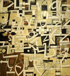Bradley Walker Tomlin. Number 20. 1949. MoMA, NYC - Staccato rythmn, heiroglyphics, typology, no focal point