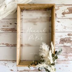 Welcome To Our Wedding, Wedding In The Woods, Wedding Day, Country Barn Weddings, Wood Wedding Signs, Order Of The Day, Guest Book Alternatives, Hanging Signs, Box Frames