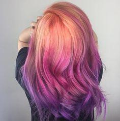 Sunset color melt  #btconeshot_color16  #btconeshot_ombre16  #btconeshot_rainbow16