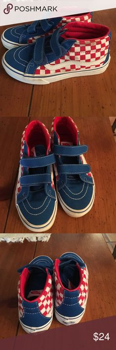 Boys VANS w/velcro Brand new, no box! I bought these, forgot about them and now they're too small! Size 2. Vans Shoes Sneakers