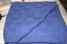 DIRECTIONS CO 236 sts. First 8 rows: seed stitch all rows: Row continue seed stitch over 6 sts, 14 times, seed sti. Knitted Afghans, Knitted Baby Blankets, Baby Afghans, Basket Weaving Patterns, Baby Knitting Patterns, Knitting Ideas, Knitting Projects, Weaving Projects, Blanket Patterns