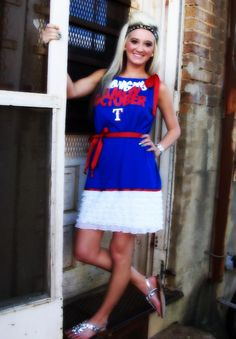 Texas Rangers Baseball  Game Day Tee Shirt Dress $55