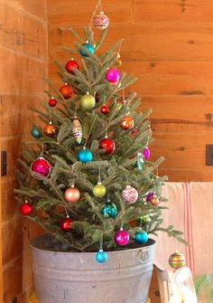 Image result for christmas decorating with small trees