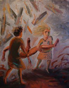 CHRISTIAN MACKETANZ Ho-m-me -Olio su tela - 37x29,5cm Ho(M)me exhibition #DeanesiGallery