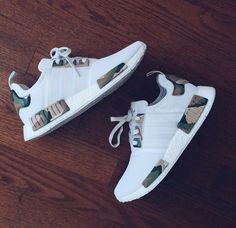 This adidas NMD White Camo Custom designed by Alexander-John takes the Triple White adidas NMD and adds Camouflage detailing for a perfect Camo adidas NMD. Hype Shoes, Women's Shoes, Me Too Shoes, Shoe Boots, Shoes Sneakers, Yeezy Shoes, Shoes Style, Shoes Men, Buy Shoes