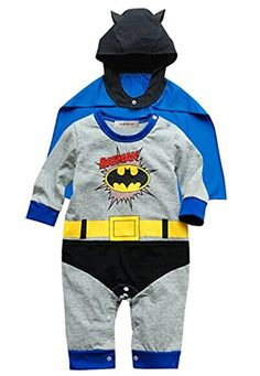 17fb39677 StylesILove Baby Boy Batman Costume Jumpsuit and Cape 2piece 36 Months  Batman Costume For Boys,