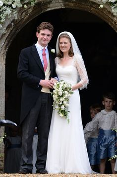 Prince William, Prince Harry and Pippa Middleton attend high-society wedding Lady Laura Marsham and James Meade