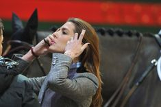 Princess Charlotte at the Equestrian Gucci Paris Masters 2012, she is a competitive equestrian.