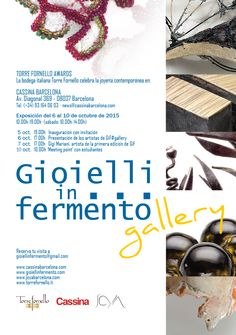 In occasione della Barcelona Jewellery Week e di JOYA Art Jewellery Fair, Torre Fornello celebra il gioiello contemporaneo presso CASSINA Barcelona Av. Diagonal 369 - 08037 Barcelona Inaugur...