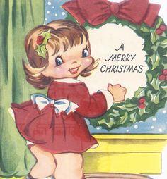 C309 Vintage Christmas Greeting Card by Americard.  by jarysstuff, $4.00