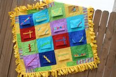 Peekaboo Baby Toddler Tummy Time Crib Quilt Blanket- need to figure out how to make this myself