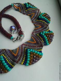 """Ожерелье """"Самарканд"""" #beads #beadart #necklace"""