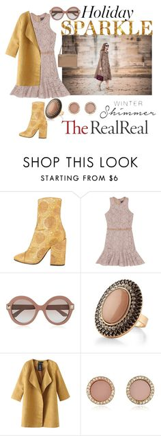 """Holiday Sparkle With The RealReal: Contest Entry"" by autumn-soul ❤ liked on Polyvore featuring Dries Van Noten, Lanvin, Valentino, Chicnova Fashion and Michael Kors"