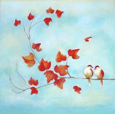 Love Birds - Sky Blue Painting