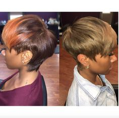 Best Ideas For Short Haircuts Picture DescriptionWhich color do you like best? style by Kisha Jefferson - community. Short Sassy Hair, Medium Short Hair, Short Hair Cuts, Short Hair Styles, Short Pixie, Hype Hair, Pretty Hair Color, Edgy Hair, Short Black Hairstyles
