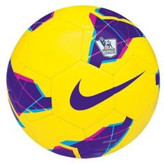 Yellow soccer ball from the English Premier League