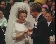 Princess Beatrix of the Netherlands weds in Amsterdam in 1966: http://www.britishpathe.com/video/they-wed-in-amsterdam-technicolor