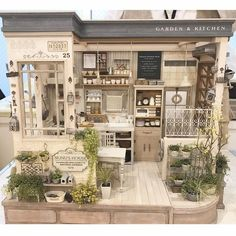 Garden and kitchen in 1/12 scale miniature