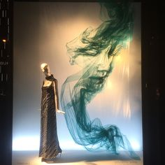 "BERGDORF GOODMAN, 5th Avenue, New York, ""5th Ave is once again blessed with our hard work at Bergdorfs and now we present the amazing talents of artist Benjamin Shine Studio. These Tulle  portraits  will hypnotize you"", photo by Sam Theis, pinned by Ton van der Veer"
