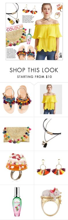 """""""Win a Yellow Top from Shein"""" by ceci-alva ❤ liked on Polyvore featuring Elina Linardaki, Avon, Les Délices de Rose, Chanel, ESCADA and Les Néréides"""