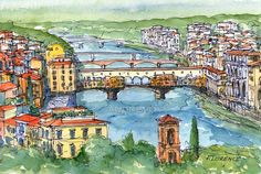 Florence  Italy 12 x 8 print signed by AndreVoyy on Etsy, $20.00