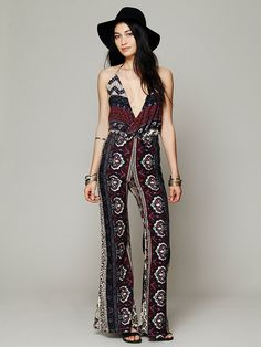 "Novella Royale Lady Tangier Jumpsuit at Free People Clothing Boutique  -  Another ""wear around home and feel stupidly fabulous but wont catch me dead wearing this in public"" jumper that caught my eye."