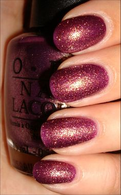 Just got my acryllic nails done in this gorgeous color for fall called, It's MY Year by OPI!