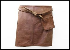 Leren sloof Isolde #Handmade #Leather #Cooking #Schort #Horeca #Brown