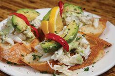 Crab & Avocado Crostini at Oporto's in #houston