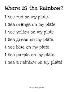 The Educators' Spin On It: Little Hands That Cook with Books: Let's eat a RAINBOW!