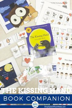 The Kissing Hand by Audrey Penn is a well loved story about Chester the raccoon who is heading to school for the first time. This listing for an 88 page download. The download includes activities for speech and language therapy that are based on the book.