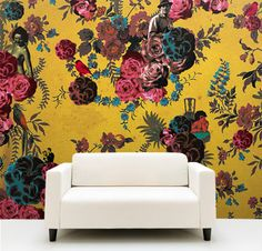 large floral wallpaper. yes please now