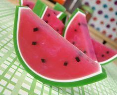 Melt and pour watermelon soap