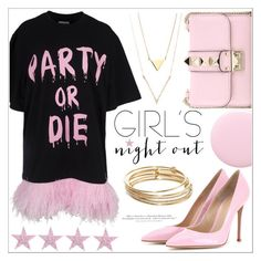 """""""Girl's night out!"""" by teryblueberry ❤ liked on Polyvore featuring Gianvito Rossi, Valentino, Nails Inc., Kate Spade, H&M and girlsnightout"""