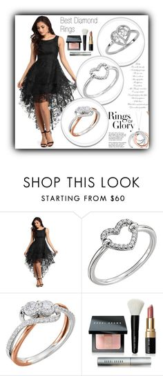 """""""Apples of Gold"""" by fatimka-becirovic ❤ liked on Polyvore featuring Tiffany & Co., Bobbi Brown Cosmetics, ring, jewelry, diamond and women"""
