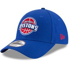 Men's Detroit Pistons New Era Blue Official Team Color 9FORTY Adjustable Hat