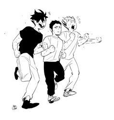 Kuroo, Daichi & Bokuto