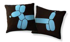 balloon dog pillows