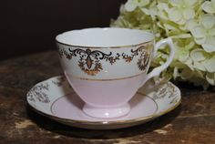 ROYAL VALE  Bone China Tea Cup and Saucer Pale by HoneyandBumble, $18.00