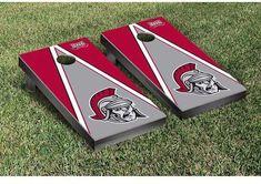 Tailgate Victory NCAA Triangle Wooden Version 2 Cornhole Game Set NCAA Team: Troy University Trojans
