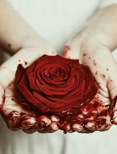 Like a flower horror grows unintentionally so dark so scarlet so beautiful. --Elise horrorton-