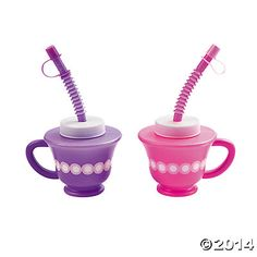Tea Party Novelty Cups for little girls or big girls that have too much wine